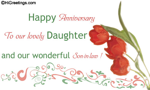 An Anniversary Card For Your Daughter And Son In Law To Show How Special They Are Send This Family Wishes