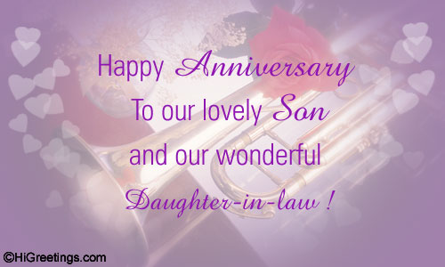 happy anniversary wishes to my son and daughter in law
