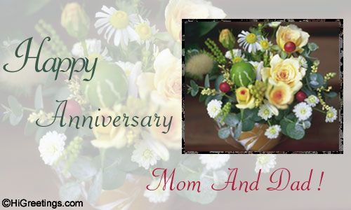 Send ecards: family wishes happy anniversary to you mom and dad!