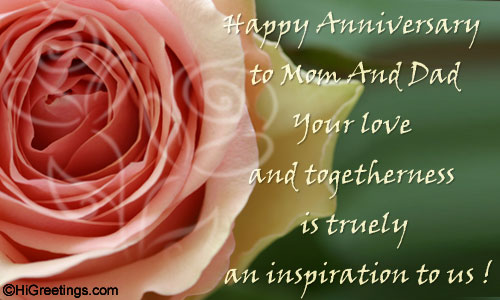 Send ecards: family wishes anniversary wishes to my lovely parents!