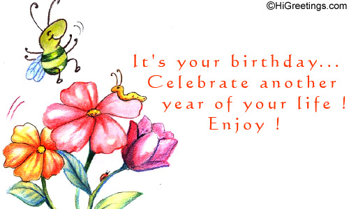 HiGreetings Birthday Wishes Another Year Of Happiness