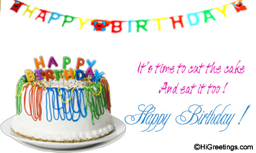 Send Ecards Happy Birthday Its Cake Eating Time