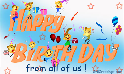 Send ecards happy birthday wishing you the happiest time convey birthday wishes from a group of friends to give a great surprise to them send this happy birthday wishing you the happiest time greeting card to bookmarktalkfo Gallery