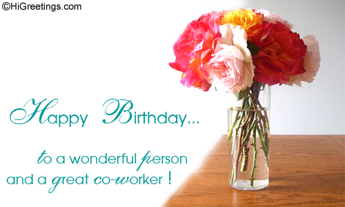 Present This Sparkling Ecard To Wish Your Boss Or A Co Worker On His Her Birthday Send Colleagues