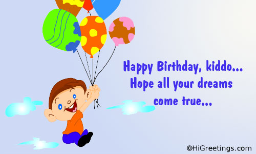 Send ecards family wishes happy birthday kiddo higreetings birthday family wishes happy birthday kiddo m4hsunfo