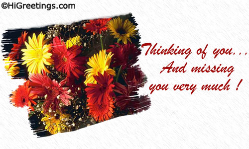 Send ecards miss you lovely flower montage m4hsunfo