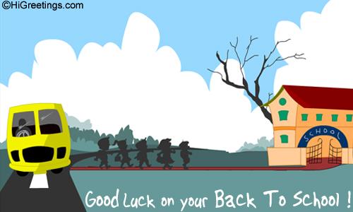 Admirable Send Ecards Back To School Good Luck Easy Diy Christmas Decorations Tissureus