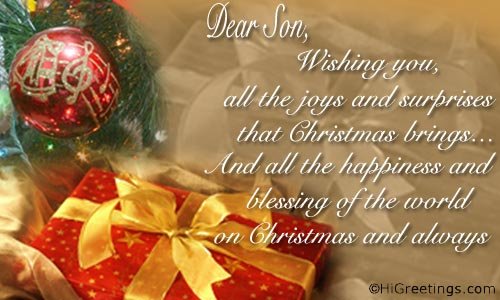 send ecards friends family christmas wishes for dear son
