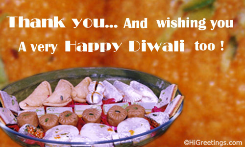Send ecards thank you thank you a simple and message oriented diwali greetings card send this thank you thank you greeting card to your loved ones m4hsunfo