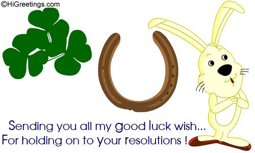 Send eCards: Resolutions | Good Luck Wish!