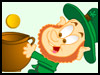 Lucky four leaved Clover! - Kids ecards - St. Patrick's Day Greeting Cards