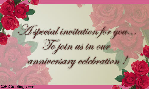 Send ecards anniversary a special invitation higreetings invitations everyday other invitations anniversary a special invitation stopboris Image collections