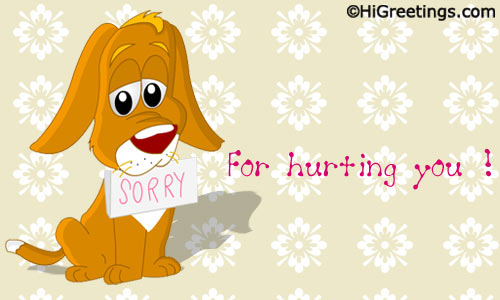 Send ecards sorry apology for hurting a perfect ecard to simply say to your friend that you are sorry send this sorry apology for hurting greeting card to your loved ones m4hsunfo