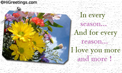 Send ecards forever love in every season a beautiful love ecard for someone special who is forever yours send this forever love in every season greeting card to your loved ones m4hsunfo Image collections