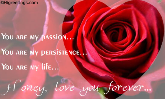 Send ecards forever love you are my passion send this forever love you are my passion greeting card to your loved ones m4hsunfo Choice Image