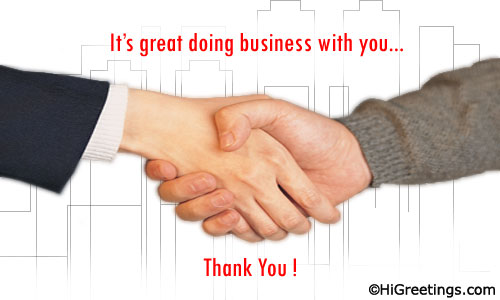 A Simple Yet Elegant Ecard To Say Thank You Send This Business At Work